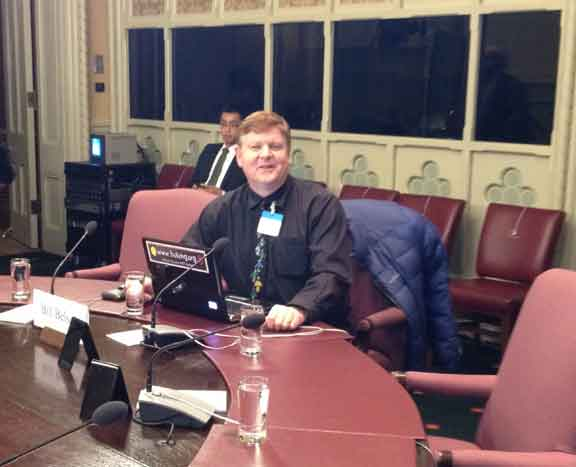 Bill Belsey Presents to the Senate Human Rights Committee on Parliament Hill in Ottawa.