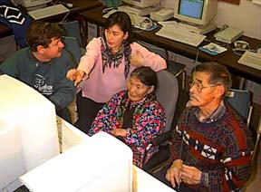Bill_Belsey with elders at Igalaaq in Rankin Inlet, Nunavut